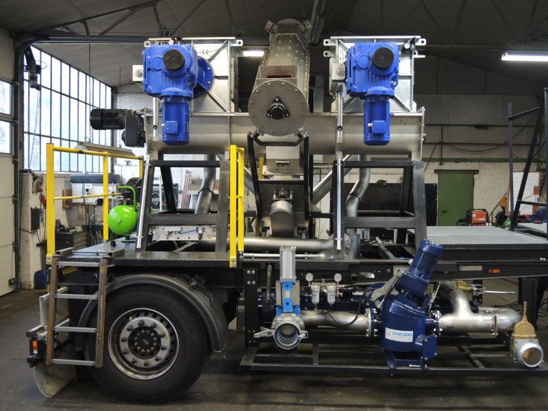 REW Regenis ME - Gülle-Separator mobil - Maiseinsparung